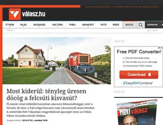 Main page screenshot of hetivalasz.hu