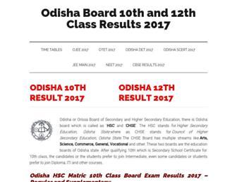 odisha.allresultsnic.in screenshot
