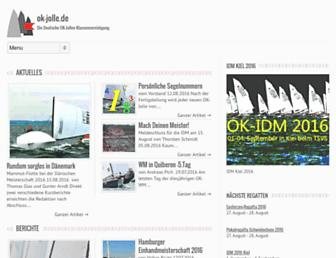 Main page screenshot of ok-jolle.de