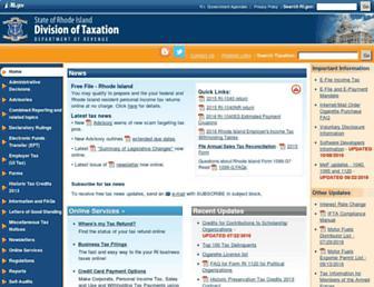 tax.ri.gov screenshot