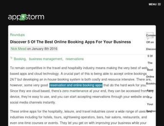 Main page screenshot of web.appstorm.net