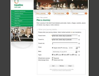 jplanner.travelinenortheast.info screenshot