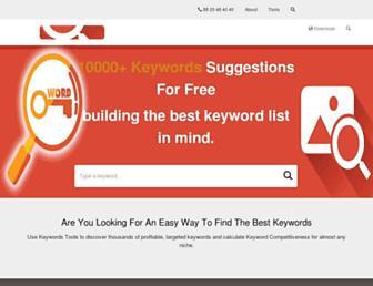 keywordstools.net screenshot
