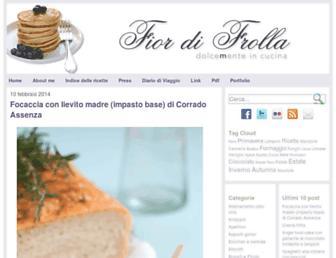 Main page screenshot of fiordifrolla.it