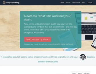 Thumbshot of Acuityscheduling.com