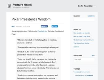 Thumbshot of Venturehacks.com