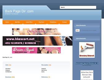 Thumbshot of Backpagedir.com