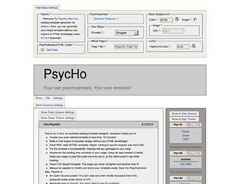 Main page screenshot of psyc.horm.org