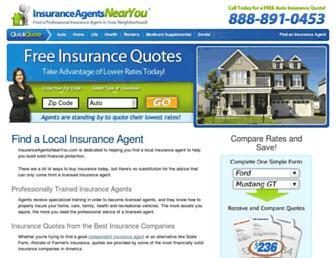 insuranceagentsnearyou.com screenshot