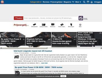 Main page screenshot of be.hardware.info
