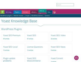 kb.yoast.com screenshot