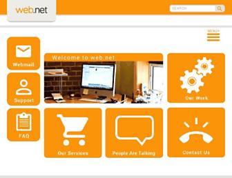 Main page screenshot of web.net