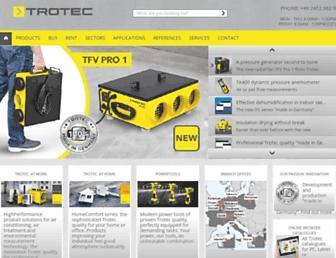 uk.trotec.com screenshot