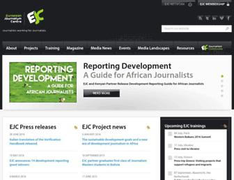 Main page screenshot of ejc.net