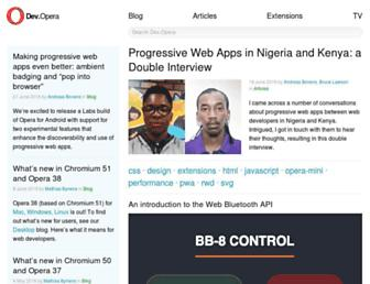 dev.opera.com screenshot
