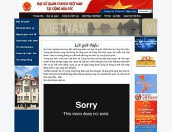 vietnamembassy-czech.org screenshot