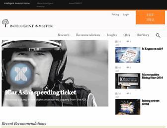 Thumbshot of Intelligentinvestor.com.au