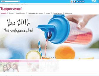 tupperware.com.tr screenshot