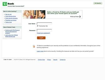 onlinebanking.tdbank.com screenshot