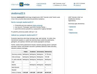 Main page screenshot of skelbimai22.lt