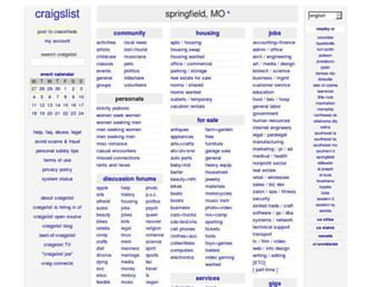springfield.craigslist.org screenshot