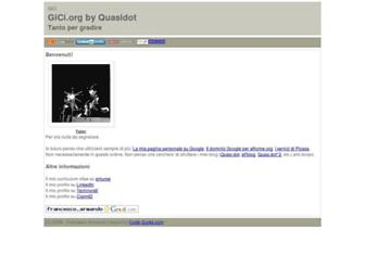 Main page screenshot of gici.org