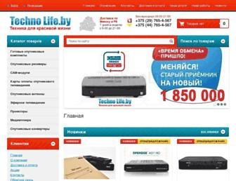 Main page screenshot of technolife.by