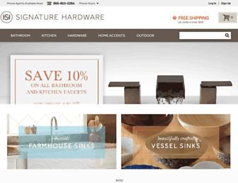 signaturehardware.com screenshot