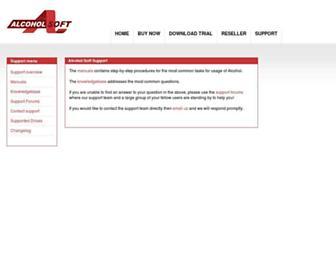 support.alcohol-soft.com screenshot