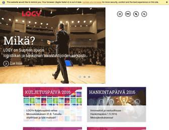 Main page screenshot of logy.fi