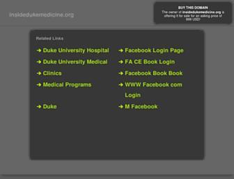Main page screenshot of insidedukemedicine.org