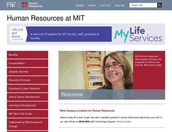 hrweb.mit.edu screenshot