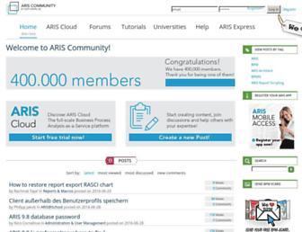 ariscommunity.com screenshot