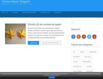comohacerorigami.net screenshot