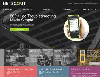 enterprise.netscout.com screenshot