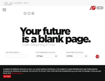 Main page screenshot of ied.edu