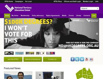nteu.org.au screenshot