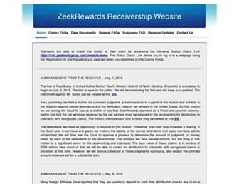 Thumbshot of Zeekrewardsreceivership.com