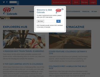 colorado.aaa.com screenshot
