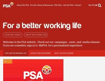 psa.org.nz screenshot