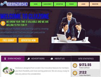 Screenshot for clixzone.net