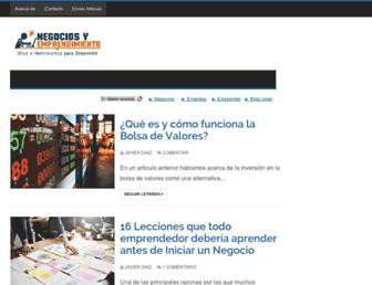 negociosyemprendimiento.org screenshot