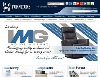 simsfurniture.com screenshot