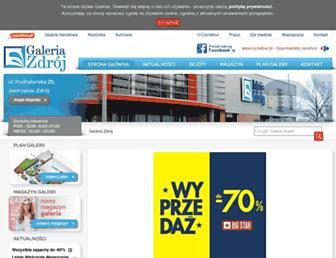 Main page screenshot of galeria-zdroj.pl