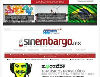 Main page screenshot of unafuente.sinembargo.mx
