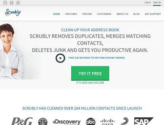scrubly.com screenshot
