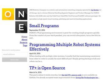 onerobotics.com screenshot
