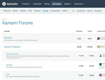 forums.xamarin.com screenshot
