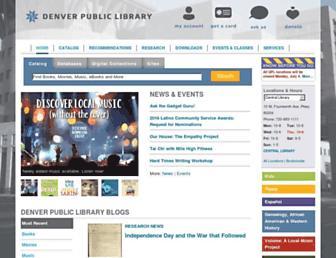 denverlibrary.org screenshot