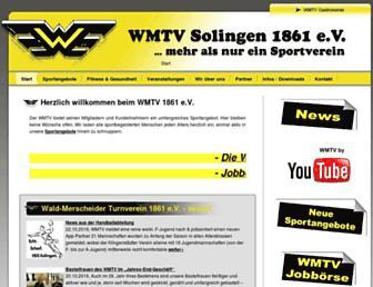 Main page screenshot of wmtv.de